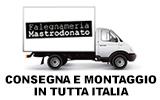 Consegna in tutta Italia